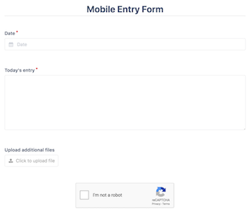 Mobile Form